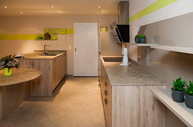 poco k che san remo eiche san remo sand mit steingrau k. Black Bedroom Furniture Sets. Home Design Ideas